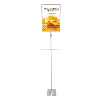Supermarket Retail Floor Display Stand With A3 Poster Frame