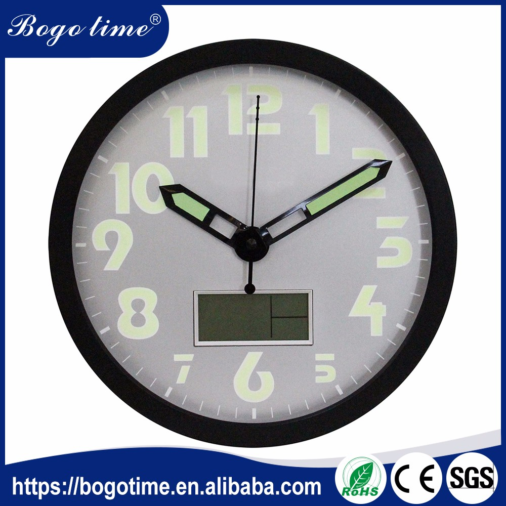 Superior Service ODM luminous mounted clocks antique oversized digital clock wall