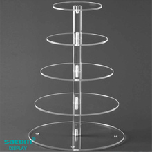 Custom 3/5/7 Tiers Lighted Acrylic Cake / Cupcake Stand , Provide Free Design