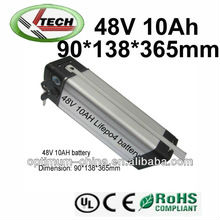 Optimum 48V 10AH LiFePO4 battery for e-bicycle from 2000 workers factory