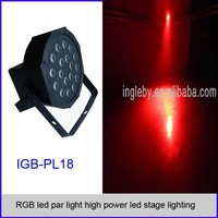 RGB led par light high power led stage lighting