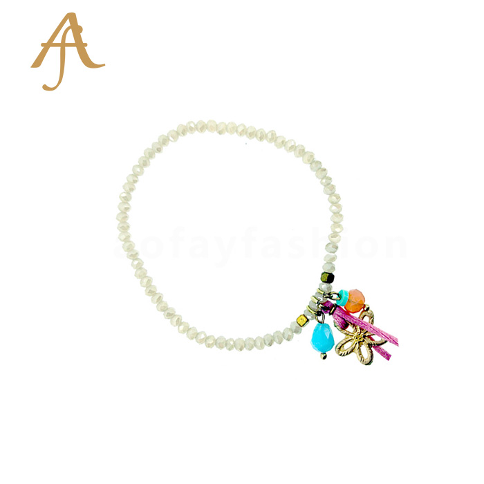Cheap OEM Girls Simple Design Charm Crystal Lace Arm Bracelet