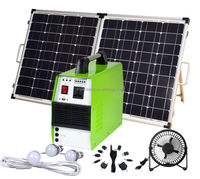 300W portable solar home power system