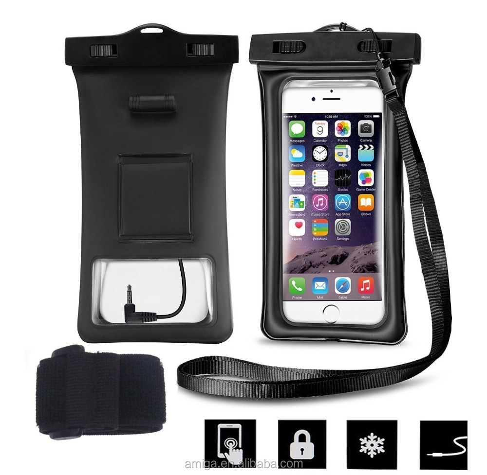 China Suppliers Waterproof Case With Earphone For iPhone Touch Screen Waterproof Underwater Pouch Dry Bag Case Cover For Samsung