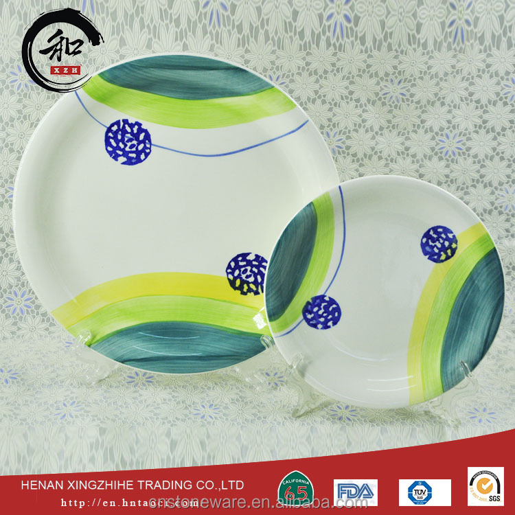 Modern design ceramic glazed plate with individual generators