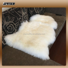 Luxury Real Sheepskin Rug Pure White Fur Carpet