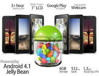 "7"" .TAB Prizm Android 4.1 Jelly Bean Tablet PC - WiFi, Google Play Store, Games, Movies, Netflix + More! (Black)"