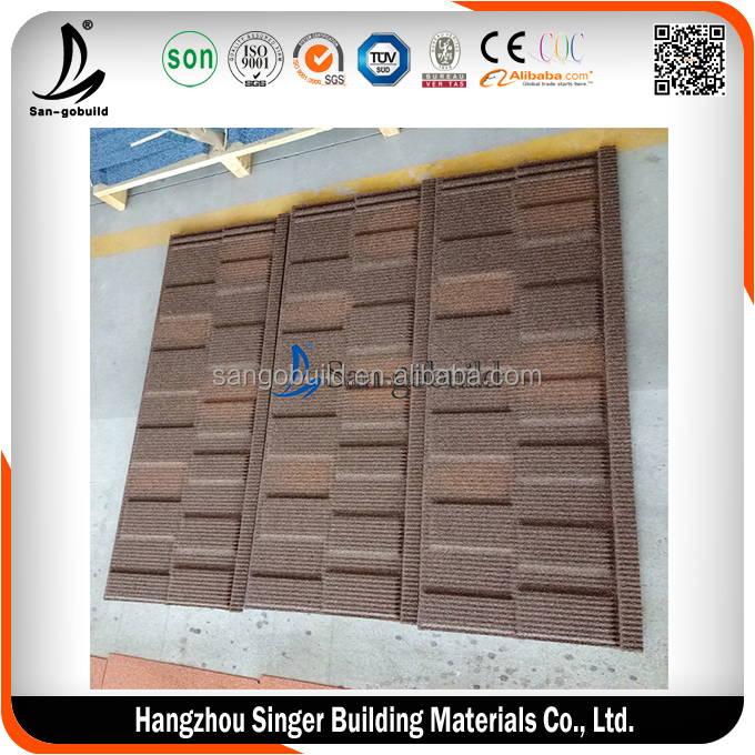 SGB Coffee Brown Color Stone Coated Metal Roofing Shingles
