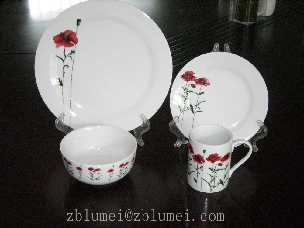 2016 Modern porcelain wedding restaurant crockery with best quality dinner set