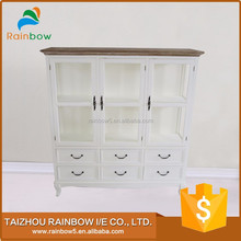 Best Selling antique wooden glass display cabinet furniture