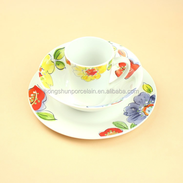 12 pcs Round Family Porcelain Dinner set for 6 people