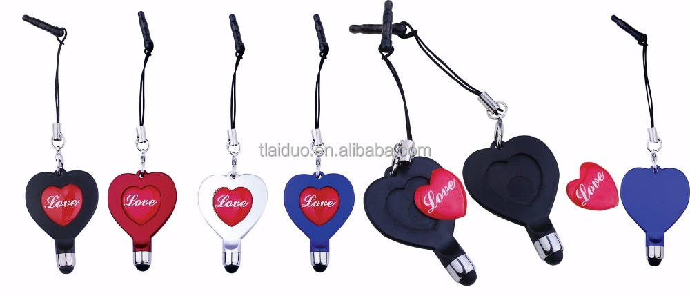 Alibaba hot-selling heart shape pen phone touch stylus pen 2017 prommotional items for OEM logo