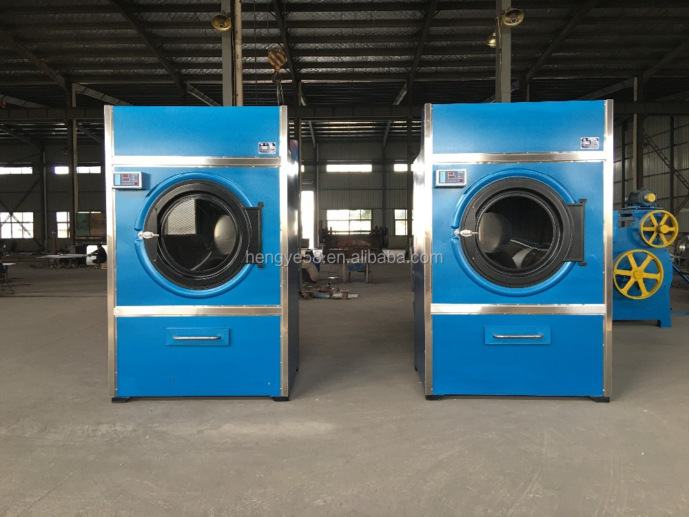 Industrial steam heated commercial clothes dryer