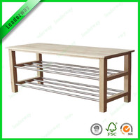 New hot sale wood shoe rack bench