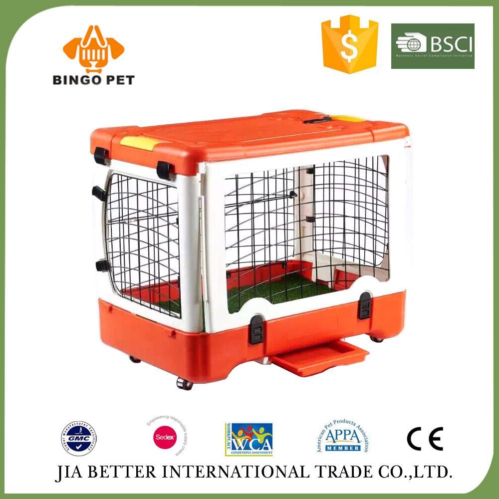 2017 factory supply pet folding metal dog crates puppy cage