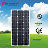 Dependable performance 12v 80w monocrystal solar panel