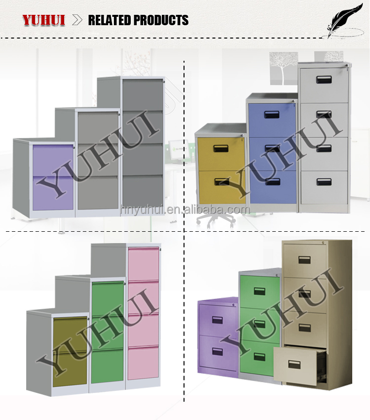 colorful vertical KD metal 2 3 4drawer cabinet / steel furniture office file cabinet