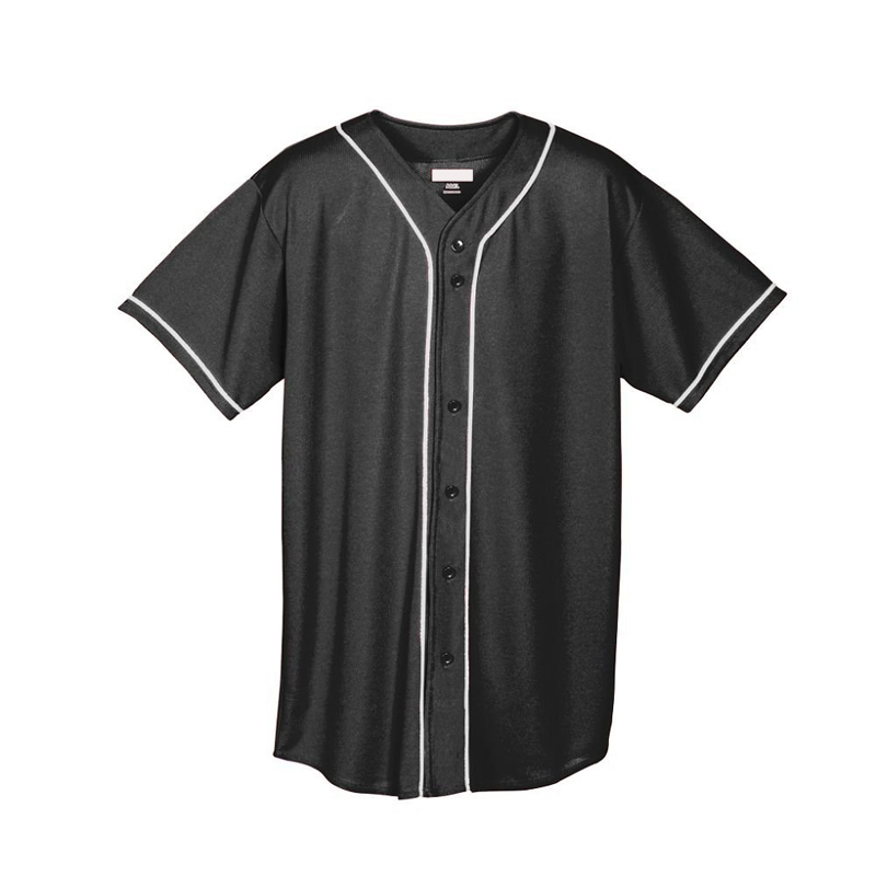 2016 new arrival simple short sleeve Cheap Blank Wholesale Black Plain Baseball Jerseys