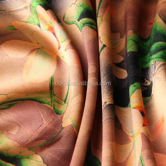 new design natural dupioni silk fabric with factory price for women