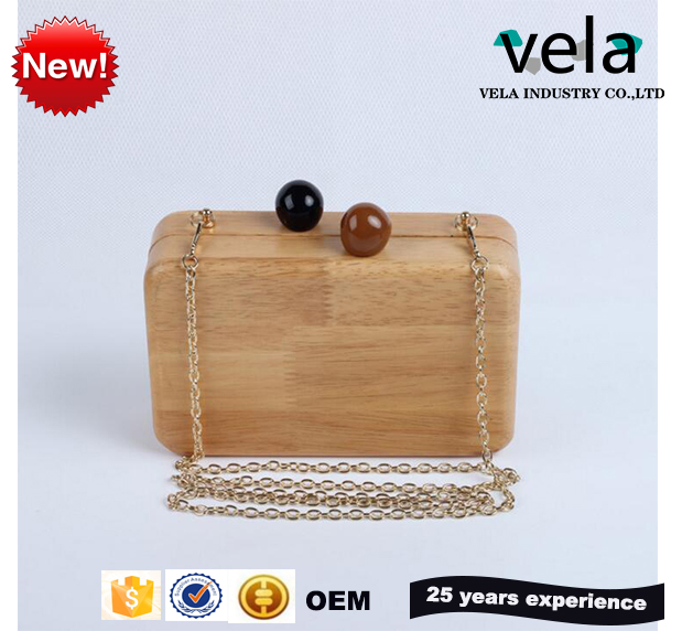 2017 Best Popular Vintage Wooden Hand Bags Box Clutch Evening Bag For Girls