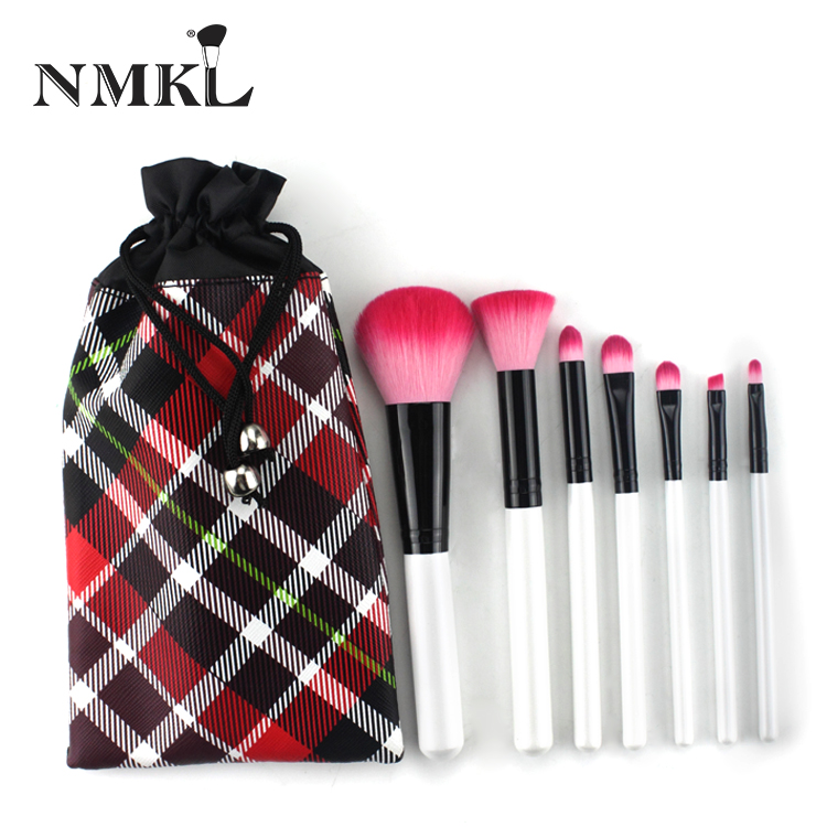 7pcs Kabuki Small Brush Cute Makeup Brush Set For Wedding And Birthday Gifts