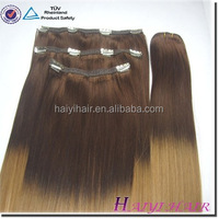 Double Drawn Very Thick Remy Hair Best price wholesale clear hair extension clips