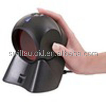 MS7120 Hands-free omnidirectional Laser Barcode Scanner 20 Scan Line with Automatic Scanning Operation