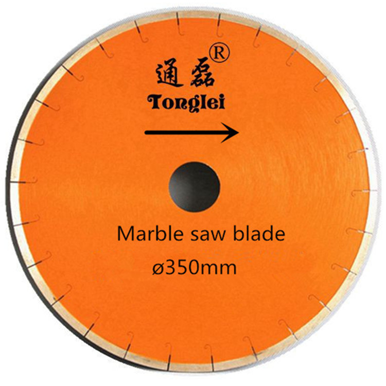No chipping wet cutting J slot 14 inches circle mable saw blade 350mm diamond blade