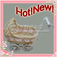 Hot New Fancy Wicker Basket With Wheels