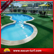 Cheap Chinese artificial grass carpet and sport flooring with drainage design holes