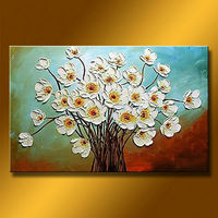 Knife Style Famous Oil Paintings Flowers for Decoration Home
