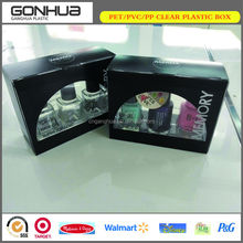 China supplier new product custom PET material CMYK printing window display nail polish package box with plastic tray inserted