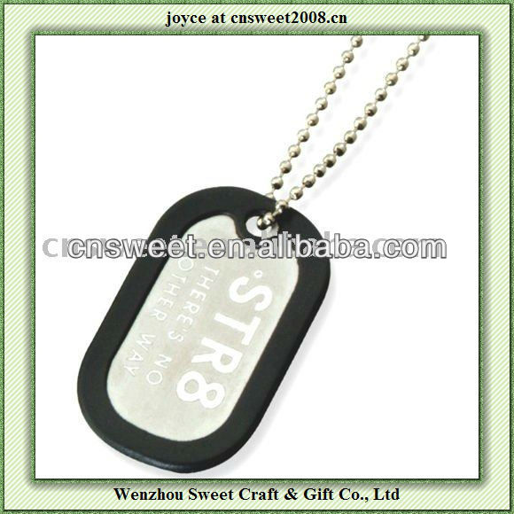 silicone dog tag for promotion or decaration gift
