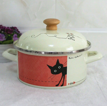 fashion logo enamel cookware & enamel soup & stock pot