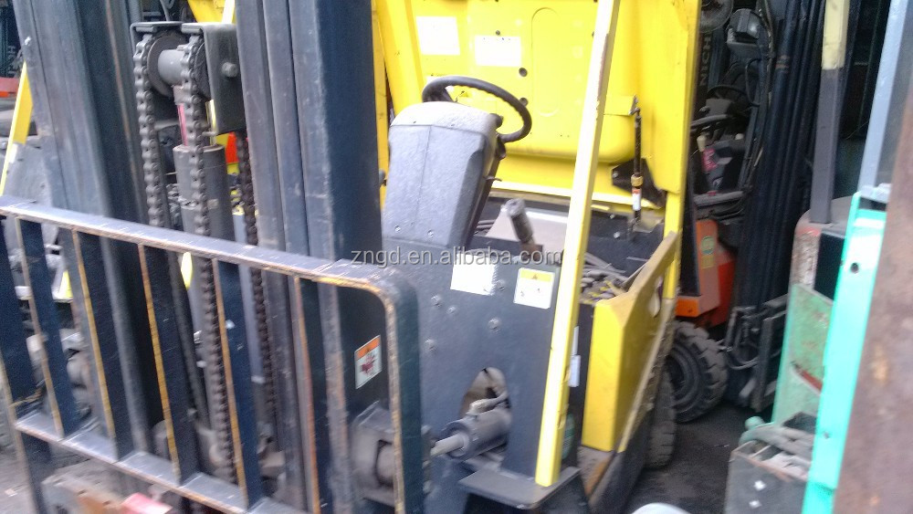 used electric engine hyster 1.5t forklift with three masts second hand hyster electric forklift 1.5t machinery 3 stages sale