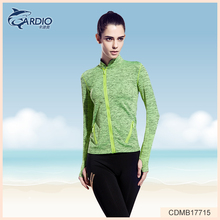 gym <strong>sports</strong> running zipper long sleeves shirt wholesale yoga wear women