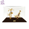 24K gold plated Knife & gold cone Tree with Acrylic Box
