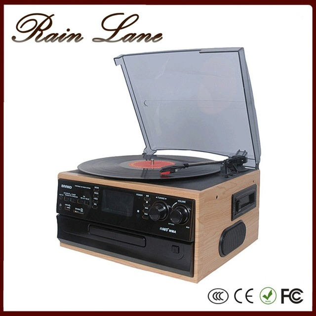 Rain Lane Multiple CD USB SD Cassette Radio record and vinyl players with speakers