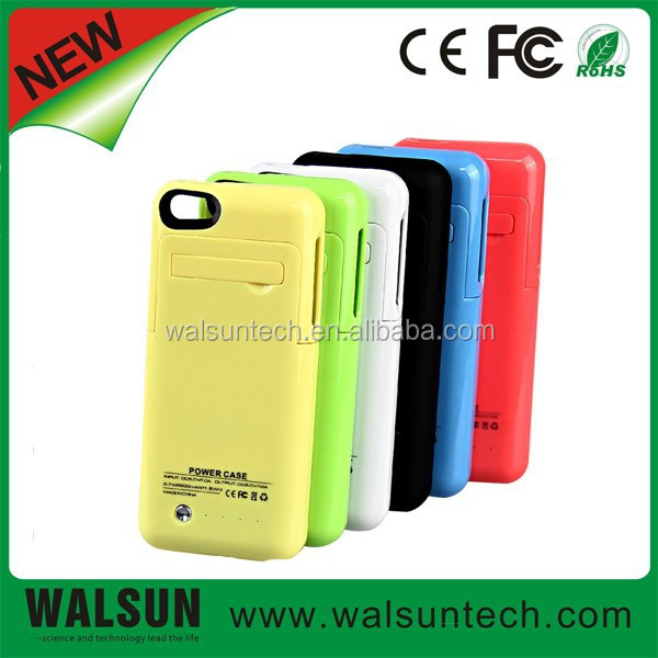 Shenzhen power bank factory make 6 colors portable wireless power charger battery case made for iPhone 5