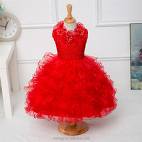 2016 New lace girl dress for 3-6 age children