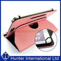 Pink Colour Rotating Tablet Case For iPad Mini