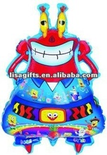 2012 hotting crab shaped mylar balloon
