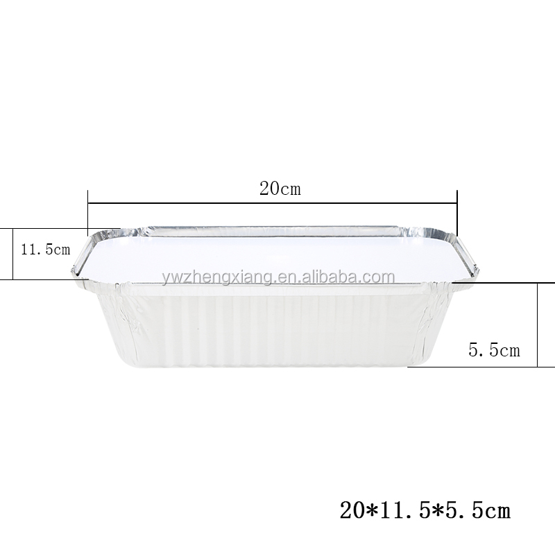 aluminum foil food containers with lid/Disposable take away food container