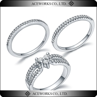 925 Sterling Silver Female Wedding Cz