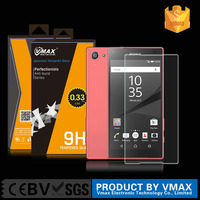 New arrival best 2.5D 9h hardness mobile phone tempered glass screen protector for Sony Xperia Z5 premium with factory price