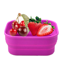 Silicone foldable mobile phones car storage box food container