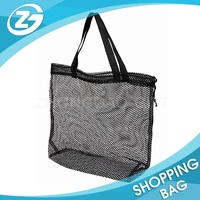 Durable Heavy Duty Large Eco-friendly 100% Nylon Fabric Beach Mesh Tote Bag for Packing