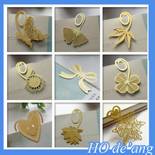 Metal Bookmark Gift Clover Ginkgo Maple Leaf Simple Creative Korean Crafts Brass Bookmarks For Books MHo-251