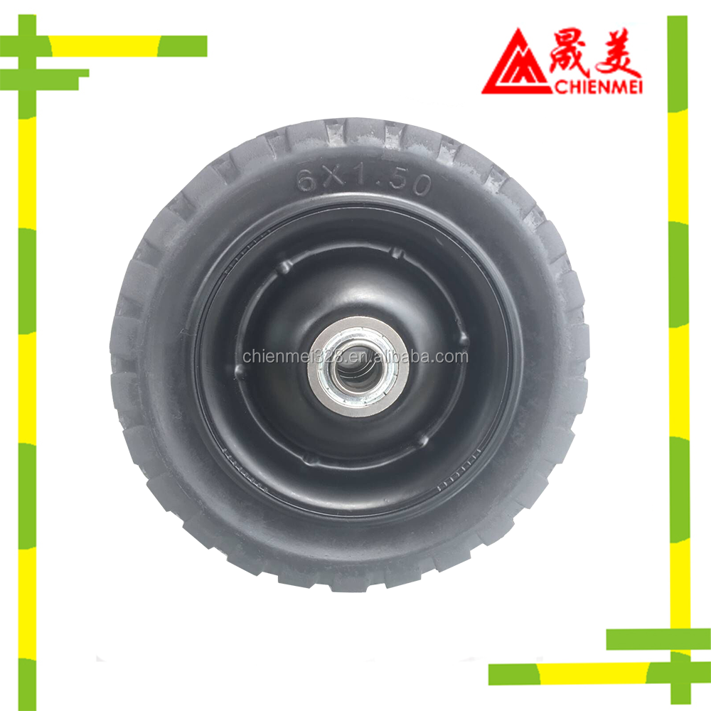High quality all different sizes solid rolling bag arch trim abrasion test rubber wheel