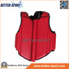 red blue color karate body protector equipment